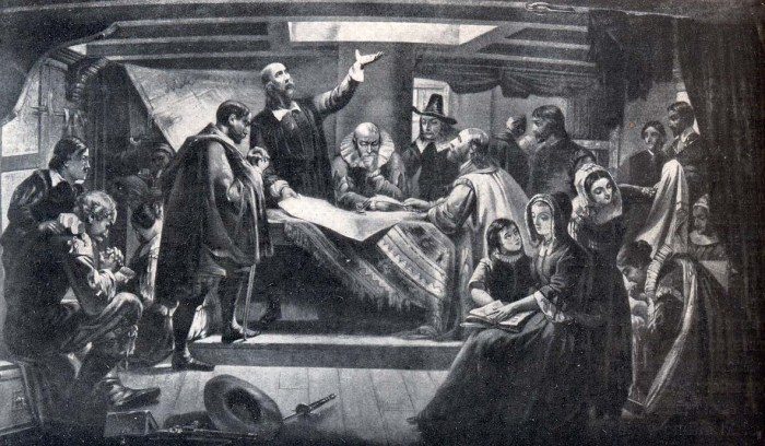 puritans off to benight the new world
