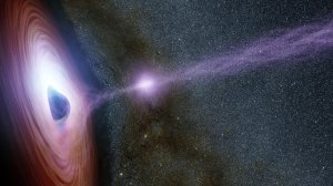 an x-ray burst from a supermassive black hole - artist's impression