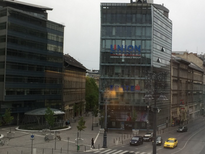 view from the hotel window, Mercure-Korona, Pest