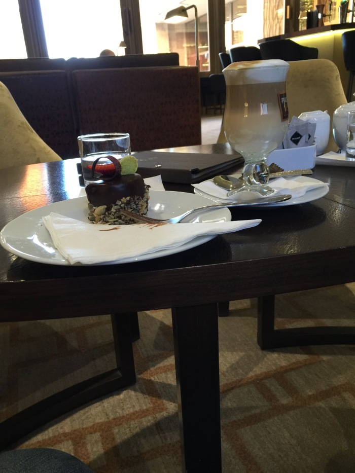 First cafe latte in Europe: Hilton hotel, Budapest
