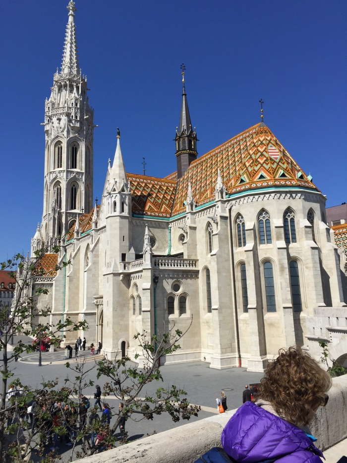 Matthius church, Buda. Supposedly first associated with 'Saint Stephen', Hungary's first Christian king, in the early 11th century, it was largely built in the late 14th century and much-restored in the 19th. Its style is over-the-top late gothic