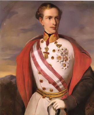 Franz Josef, emperor of Austria, king of Hungary, Bohemia as a molto-privileged youth