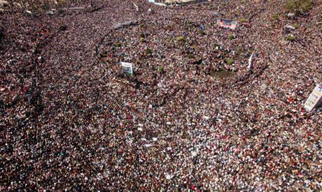 a pro-democracy demo in Egypt, 2011