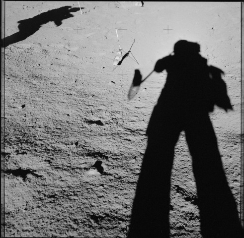 the shadows of astronauts Dave Scott and Jim Irwin on the Moon during the 1971 Apollo 15 mission - with thanks to NASA, which recently made thousands of Apollo photos available to the public through Flickr