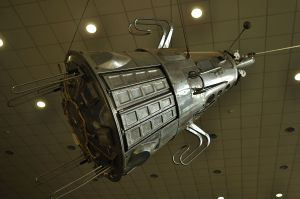 the first Dalek? Sputnik 3 https://en.wikipedia.org/wiki/Tsiolkovsky_State_Museum_of_the_History_of_Cosmonautics