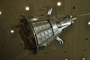 the first Dalek? Sputnik 3 https://en.wikipedia.org/wiki/Tsiolkovsky_State_Museum_of_the_History_of_Cosmonautics