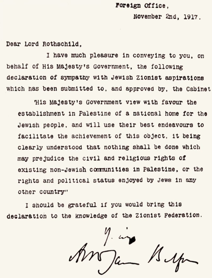Palestine 3 The Early 20th Century Zionism The Balfour